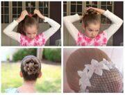 Как собрать волосы в пучок для гимнастики?